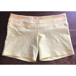 lululemon groove biker shorts yellow size 12